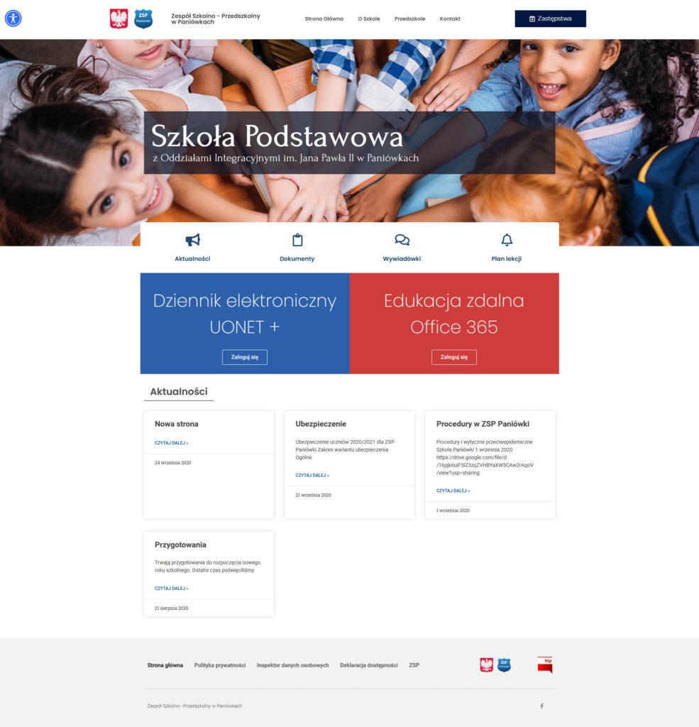 Zespół Szkolno Przedszkolny wPaniówkach – Zespół Szkolno Przedszkolny wPaniówkach